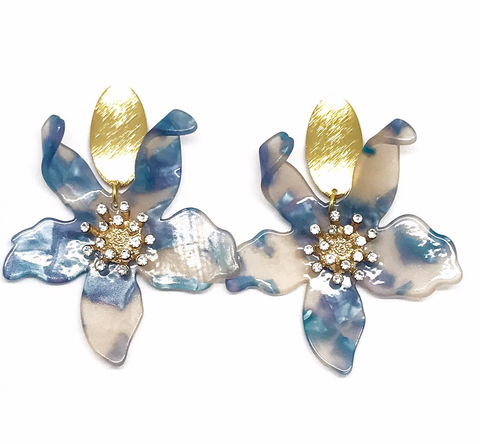 FLOWER RESIN EARRING