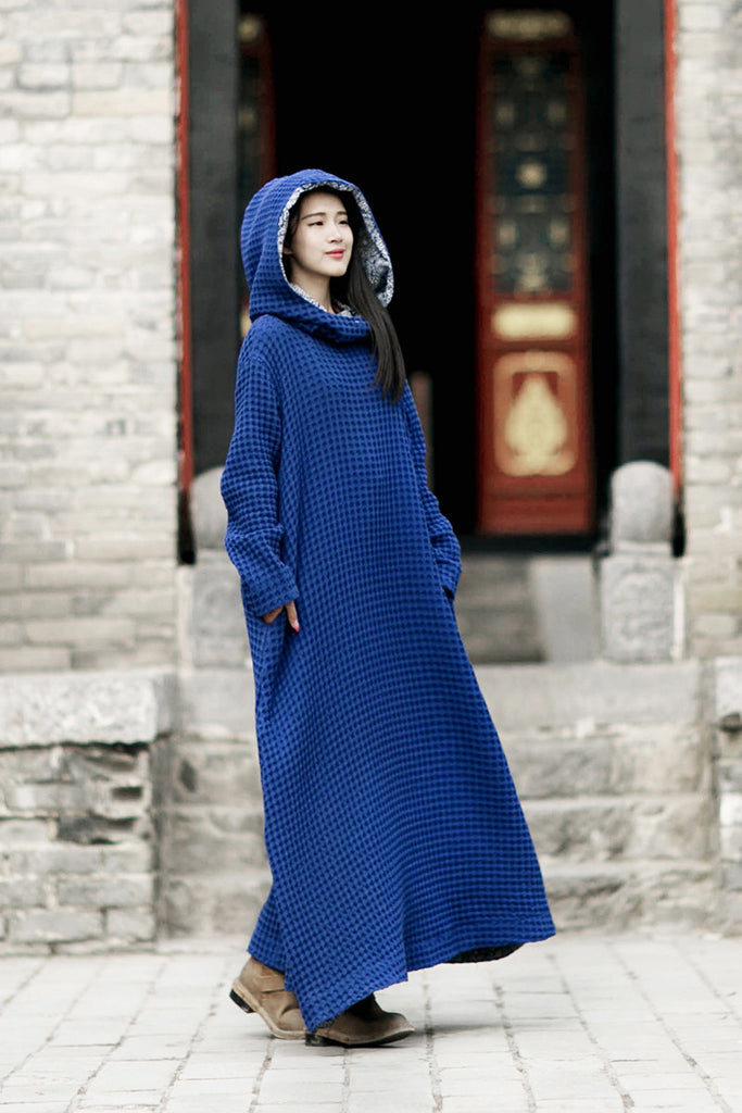 100 linen jewelry blue wizard hats robes loose fitting maxi