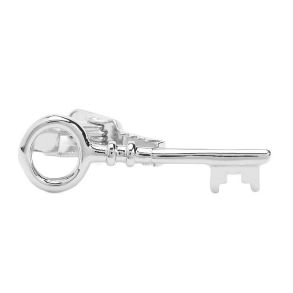 The Key Tie Clip - Silver Color - BOXknocks Dubai Tie Clips Weekend Casual