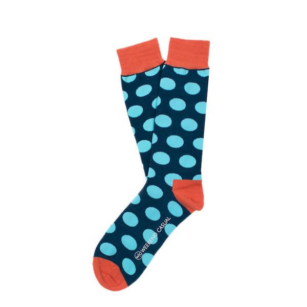 Blue Polka Dot Socks - by Weekend Casual - BOXknocks Dubai Socks Weekend Casual