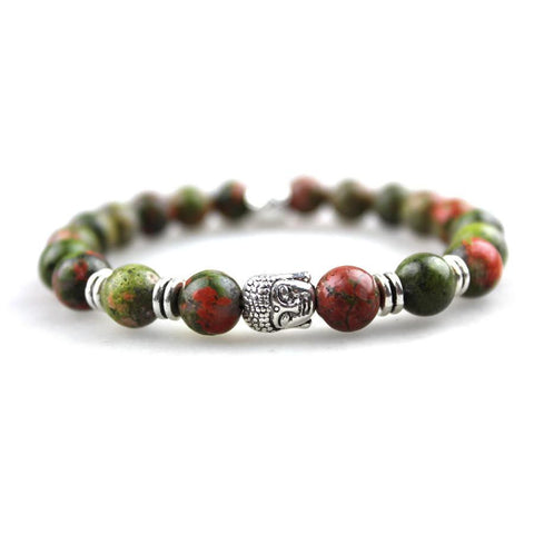 Buddha Forest Jasper Bracelet - BOX knocks  - 1