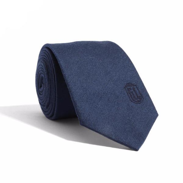 Navy Shield Tie by Gents Lounge - BOXknocks Dubai Ties Gents Lounge