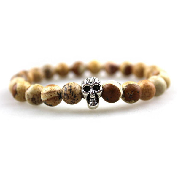 Natural Genuine Semi-Precious Skull Bracelet - BOX knocks  - 1