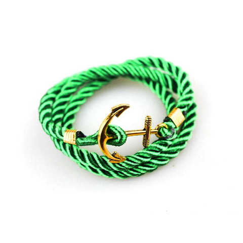 Handmade Green Rope Bracelet - BOX knocks  - 1