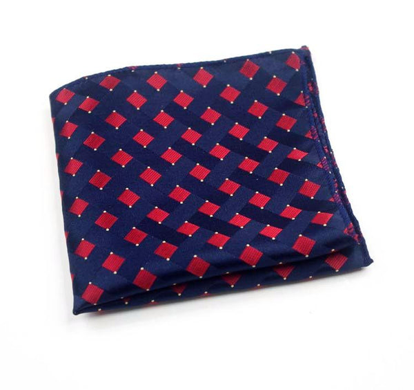 The Maroon Reversed Squares Pocket Square - BOXknocks Dubai Pocket Squares BOXknocks