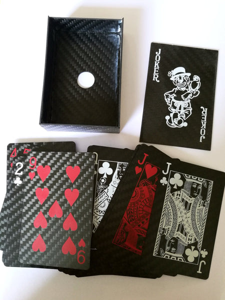 Carbon Fiber Playing Cards - BOX knocks  - 3
