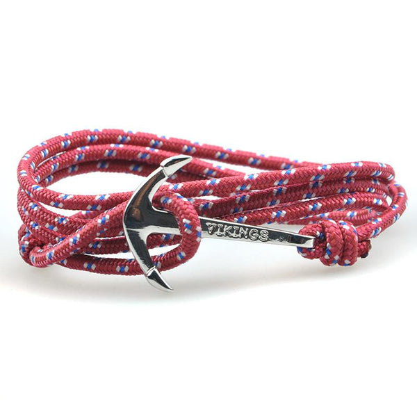 The Sailor Maroon and White/Blue Rope Bracelet - BOX knocks  - 2