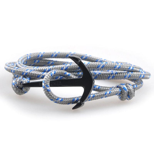The Sailor Gray and Blue/White Rope Bracelet - BOX knocks  - 3