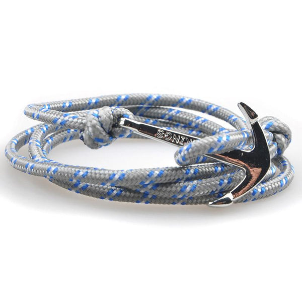 The Sailor Gray and Blue/White Rope Bracelet - BOX knocks  - 2