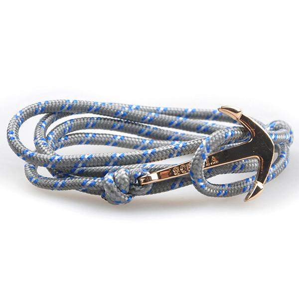 The Sailor Gray and Blue/White Rope Bracelet - BOX knocks  - 1