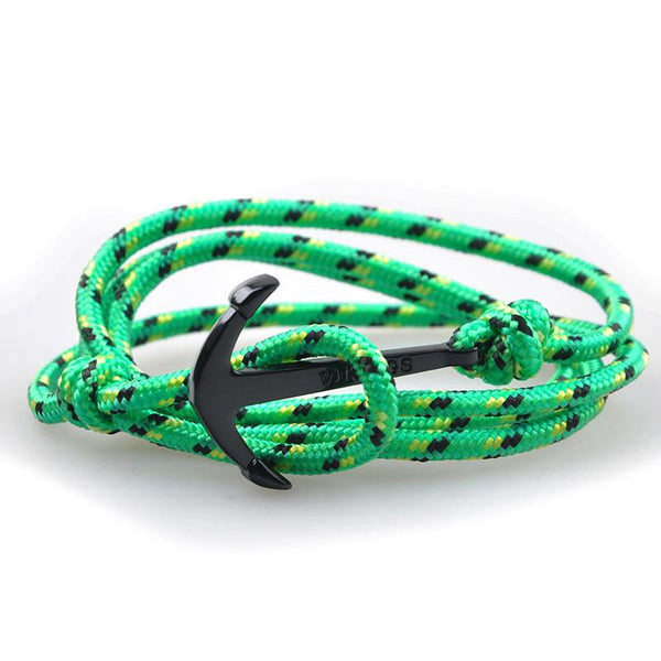 The Sailor Green and Black/Yellow Rope Bracelet - BOX knocks  - 3