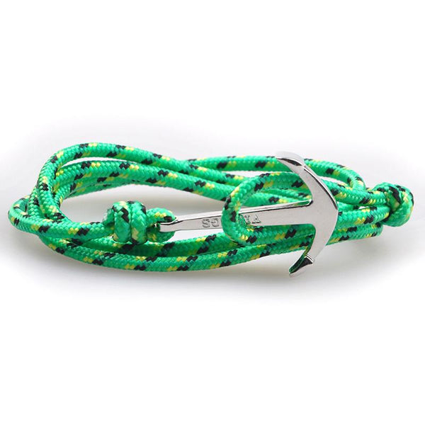 The Sailor Green and Black/Yellow Rope Bracelet - BOX knocks  - 2