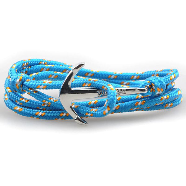 The Sailor Light Blue and Orange Rope Bracelet - BOX knocks  - 2