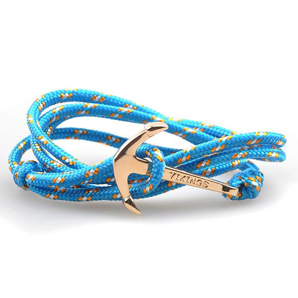 The Sailor Light Blue and Orange Rope Bracelet - BOX knocks  - 1
