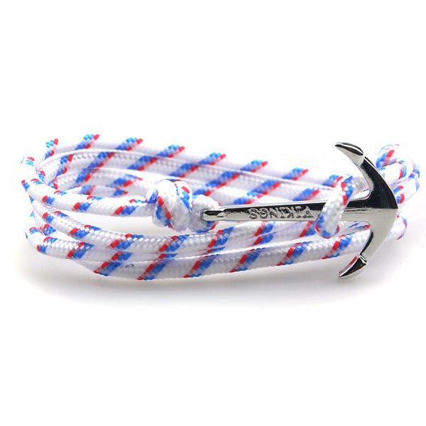 The Sailor White and Blue/Red Rope Bracelet - BOXknocks Dubai Bracelets BOX knocks