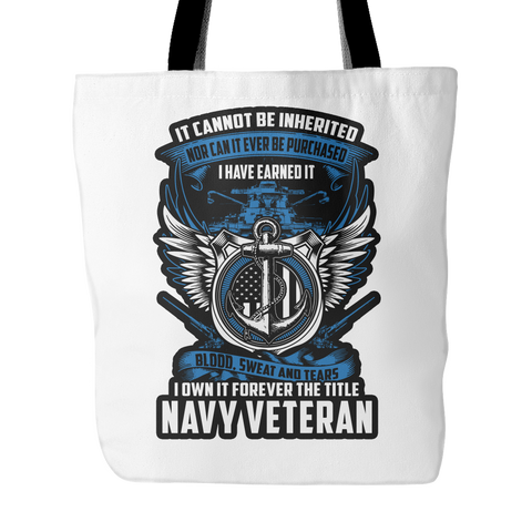 Navy Veteran Tote Bag