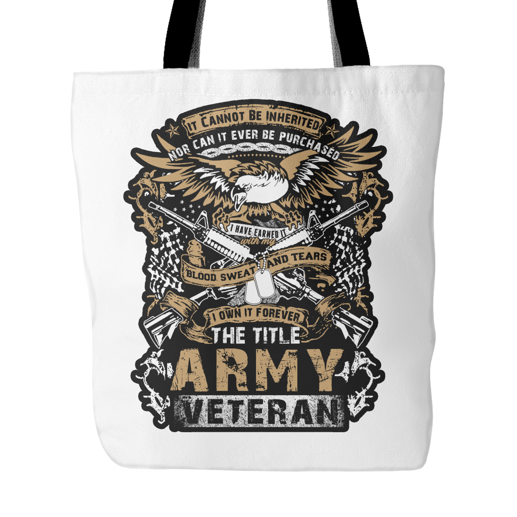 Army Veteran Tote Bag