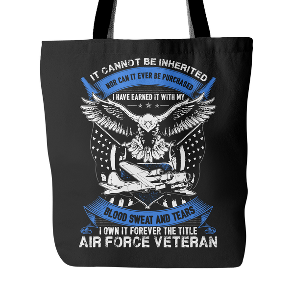 Air Force Veteran Tote Bag