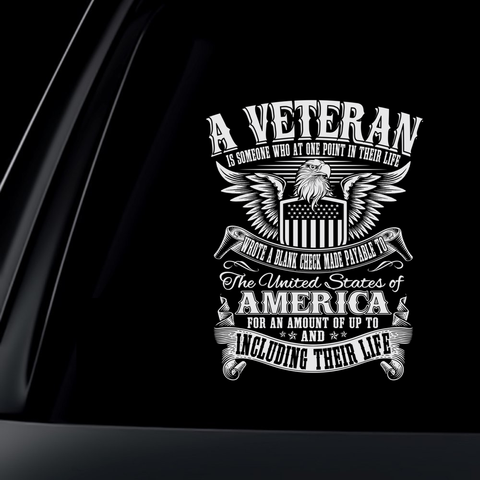 A Veteran Is Someone Decal with FREE SHIPPING!