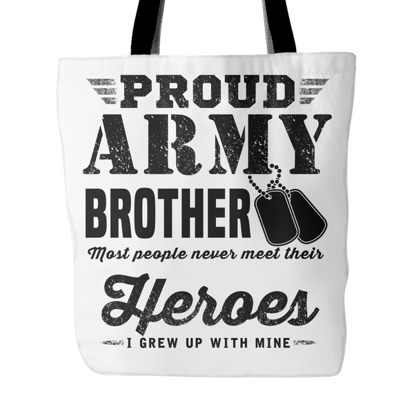 Proud Army Brother Tote Bag