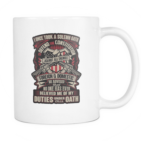 Army Veteran Mug (2nd Version, White)
