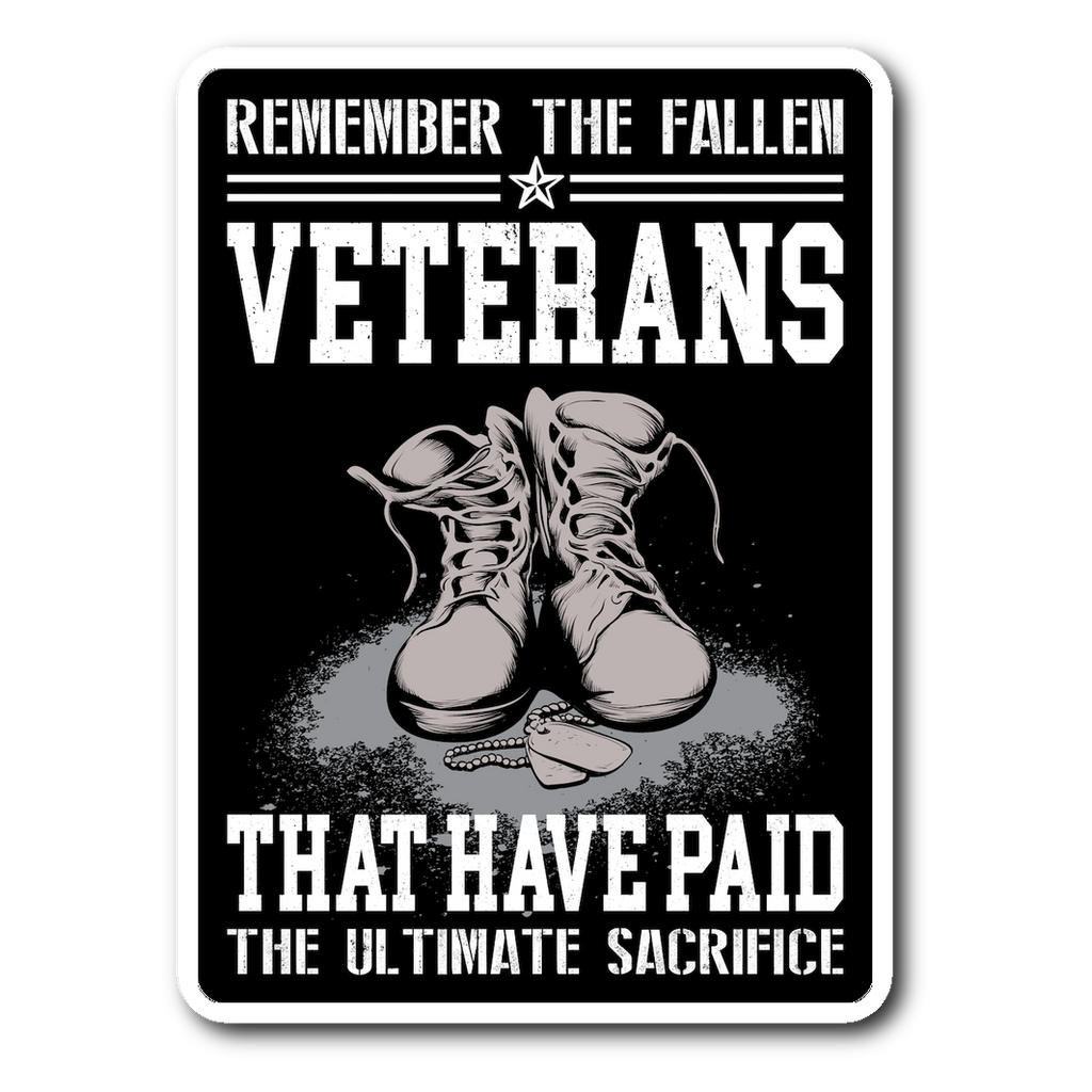 Remember The Fallen Veterans Decal with FREE SHIPPING!