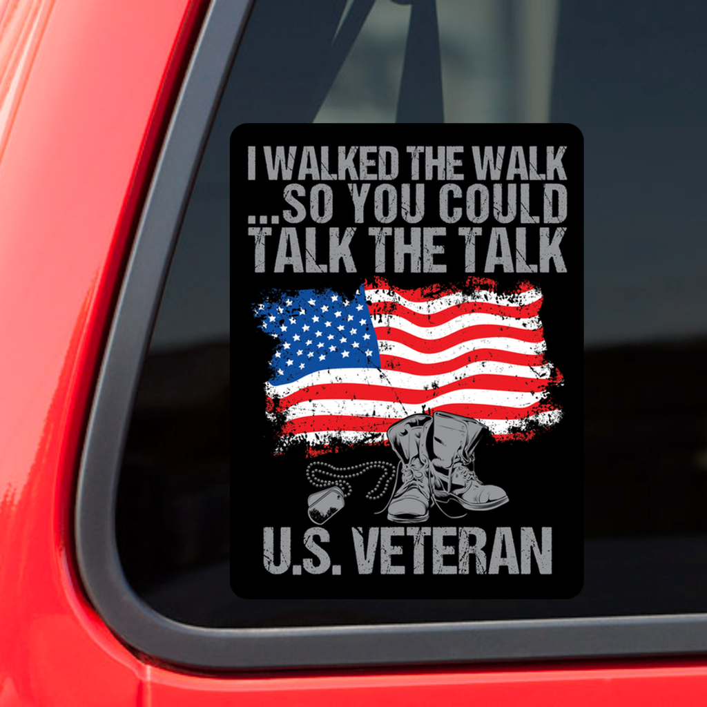 Pack of 5 with 40% Discount! - U.S. Veteran Decal with FREE SHIPPING!