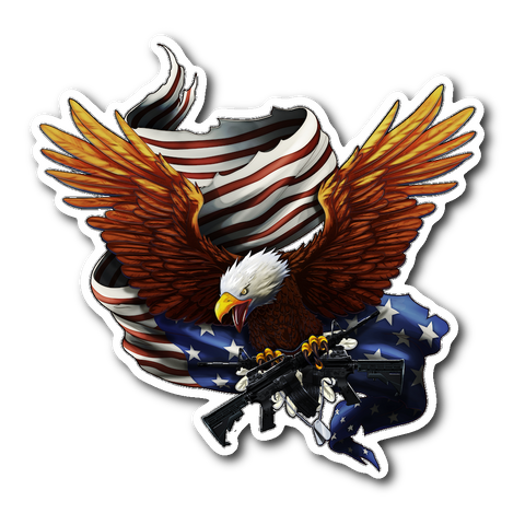 "Army Bald Eagle Decal 4"" inch with FREE SHIPPING!"