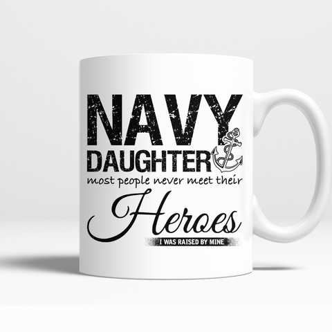 Proud Navy Daughter Mug
