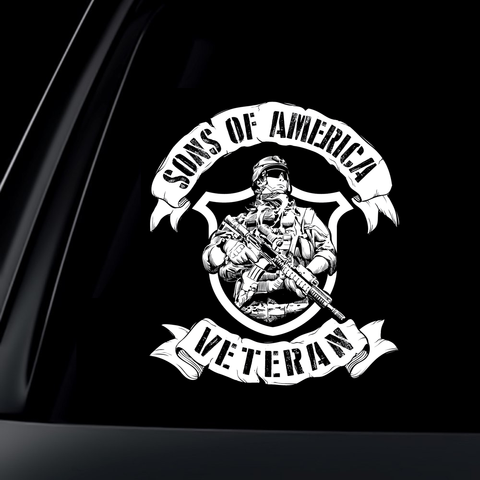 Sons of America - Veteran Decal with FREE SHIPPING!