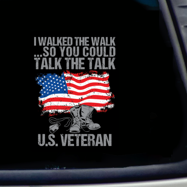 U.S. Veteran Decal with FREE SHIPPING!