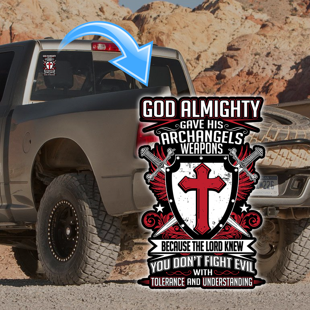 God Almighty Decal with FREE SHIPPING!