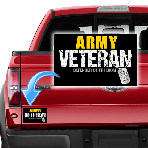 Army Veteran - Defender of Freedom Decal with FREE SHIPPING!