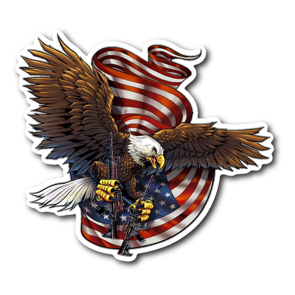 American Pride Veteran Bald Eagle Decal with FREE SHIPPING!