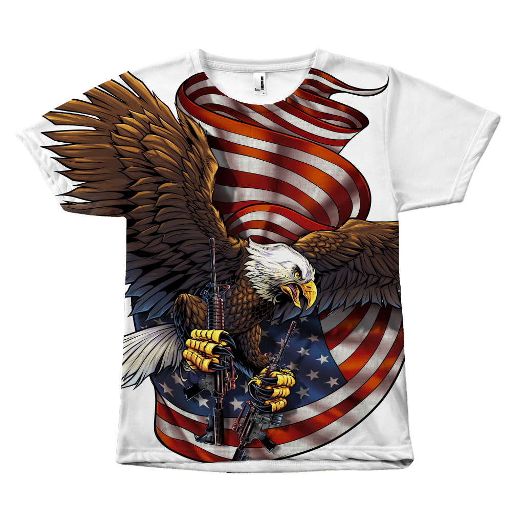 American Pride Veteran Eagle All Over Print Tee