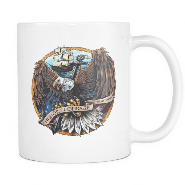 Navy Eagle Coffee Mug (White)