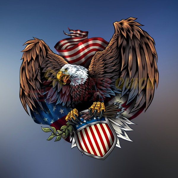 American Veteran Eagle Decal with FREE SHIPPING!