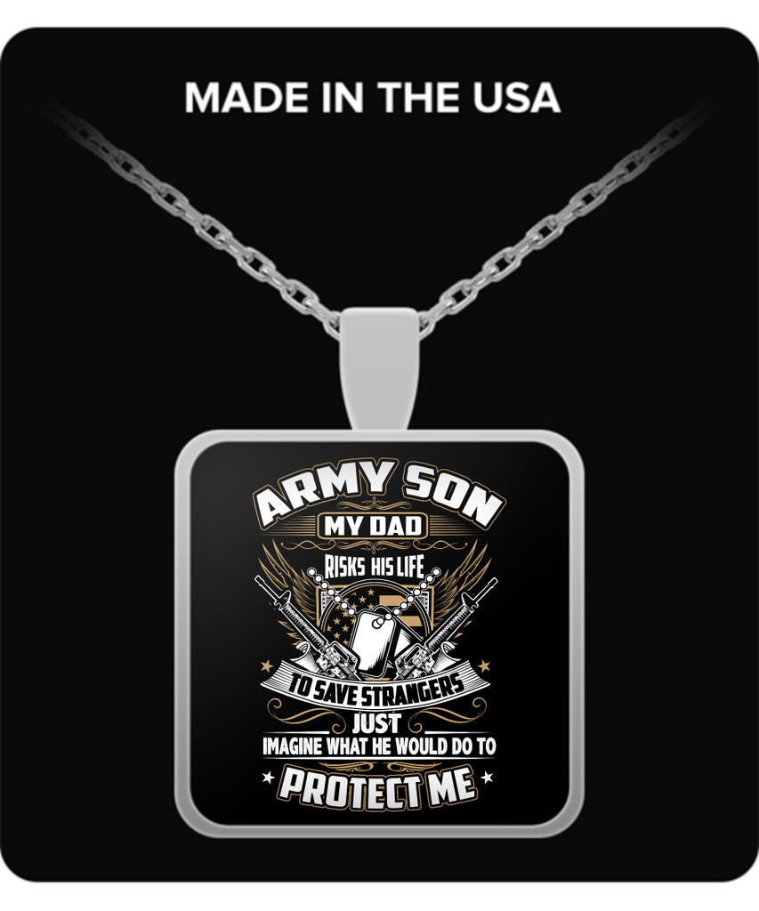 Army Son Pendant Necklace