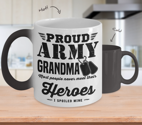 Army Grandma Color Changing Mug