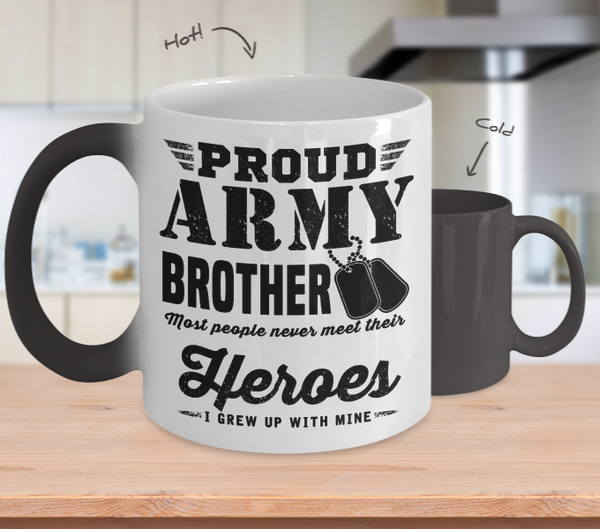 Army Brother Color Changing Mug