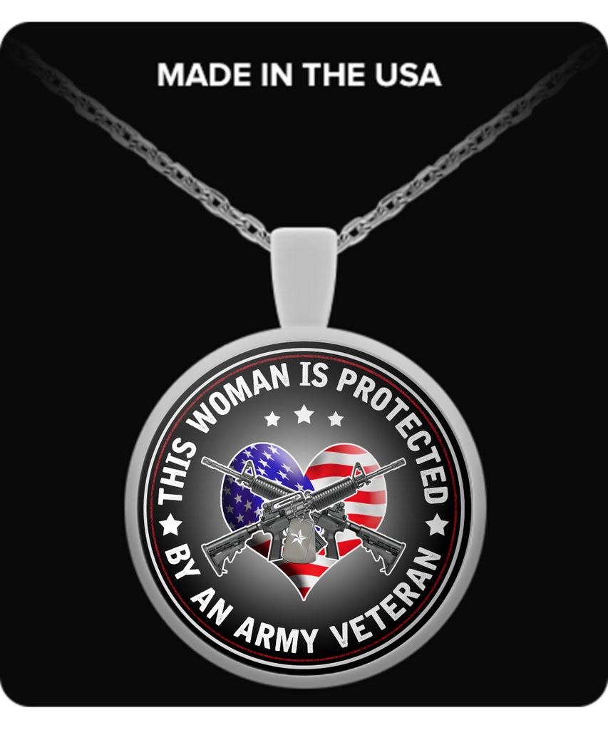 This Woman Is Protected By An Army Veteran Pendant Necklace