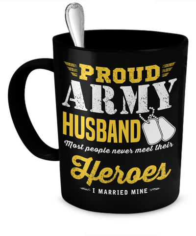 Proud Army Husband Mug (Mug)