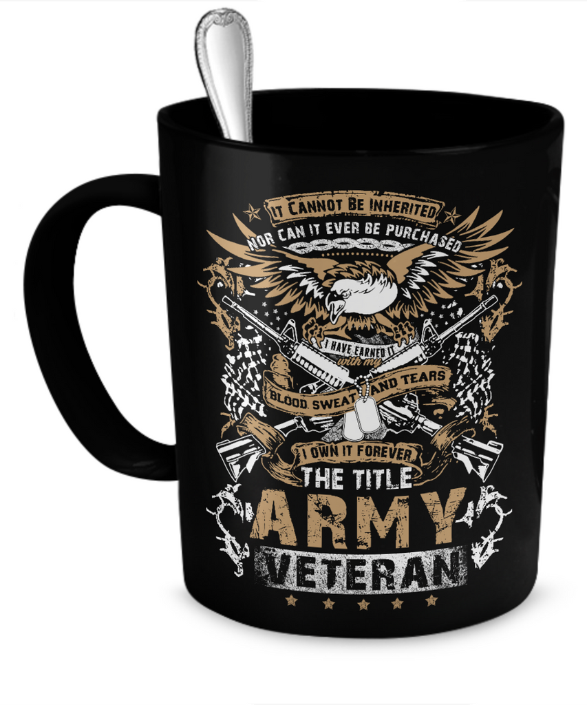 Army Veteran Mug (Black)