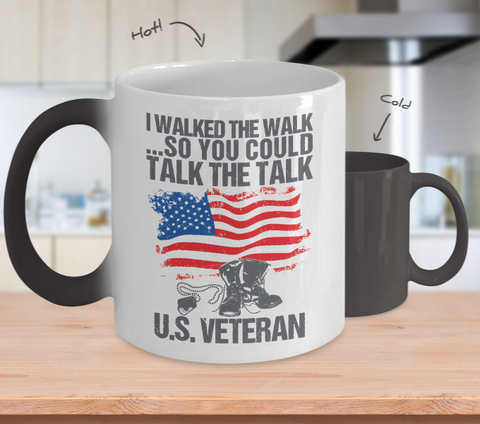 U.S. Veteran Color Changing Mug