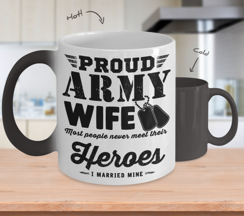 Army Wife Color Changing Mug