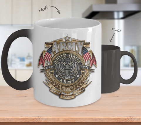 Army Color Changing Mug