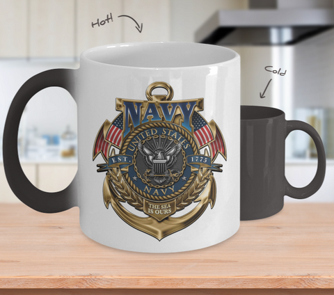 Proud Navy Color Changing Mug II