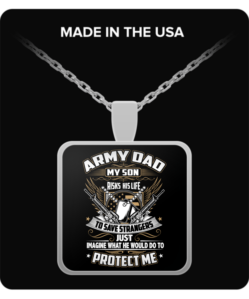 Army Dad Pendant Necklace