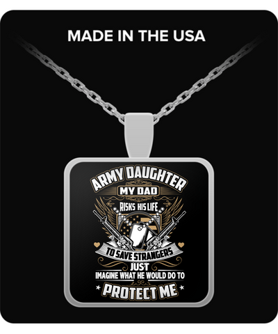 Army Daughter Pendant Necklace