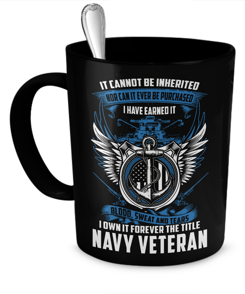 Navy Veteran Mug (Black)
